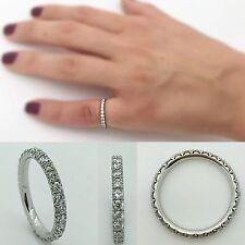 Wedding Band Platinum Pave Ring With Diamonds