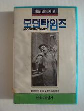 Charlie Chaplin Modern Times Vhs Tape Japanese Import Edition Very Rare