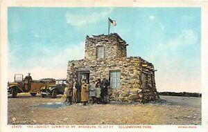 H70/ Yellowstone National Park Montana Postcard c1910 Summit Mt Washburn 168