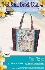 "FIJI TOTE Purse Sewing Pattern by Pink Sand Beach Designs 16.5"" x 12.5"" x 4"""