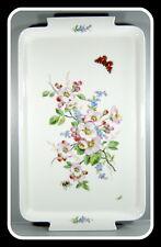 Meissen - Tablett aus Meissner Porzellan - Art Deko - Blumen mit Schmetterling