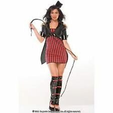 Coquette Womens Ringmaster Costume Dress Jacket Whip Hat Circus S/M 4636