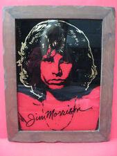 Rare Vintage 1960-1970's Jim Morrison Signature Framed Print THE DOORS Metallic