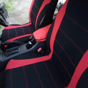 Red Full 9pc Car Seat Covers Chair Protector Cover Auto Interior Accessories