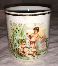 Antique German Porcelain China Cup - Water Cherubs!