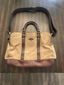 fossil messenger bag Mens Khaki Cow Hide Leather With Strap