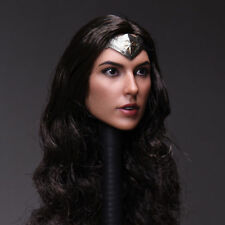 1/6 Scale Wonder Woman Female Head Sculpt Girl Gal Gadot Head F 12'' PH TBL Body