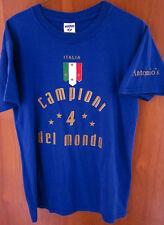 ITALIAN SOCCER TEAM youth XL tee Italia Campioni Del Mondo kids T shirt OG