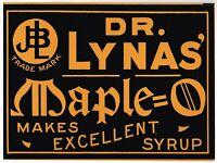 OLD ANTIQUE ADVERTISING SIGN CARDBOARD QUACK MEDICINE DR LYNA MAPLE O C1910 D611