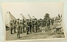 108Th Infantry Real Photo Postcard 1937 Rppc Tent National Guard Camp Smith
