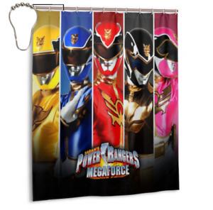 Bestselling Style Power Rangers Bathroom Waterproof Shower Curtain 60 x 72 Inch