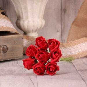 24 Luxury Artificial Foam Tea Rose Bud Flowers - Bouquet Wedding Party