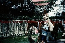 1950s India? Holy Man on a horse with parasol 35mm Slide c632