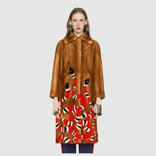 GUCCI Kingsnake Intarsia Mink Fur Coat  Size 42 - RRP $43000 - New W Tag & Auth
