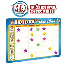 Kids Reward Chores Chart - 49 Behavioral Tasks in 6 Exciting Categories,Magnetic