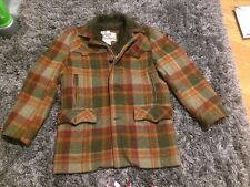 VTG tartan Plaid Pioneer wear trendy winter warm jacket Sherpa Lined Coat Sz 38