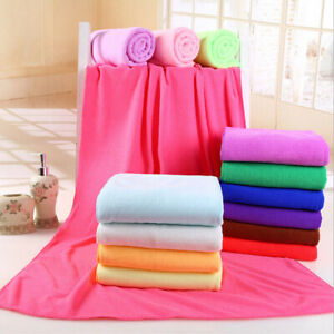 Large Microfiber Bath Towel Ultra Soft Quick-Dry Gym Sport Travel Beach Towels