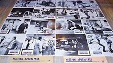 MISSION APOCALYPSE  ! jeu de 16 photos cinema  espionnage 1967