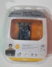 NEW Belkin USB 2.0 3-Port PCI Card