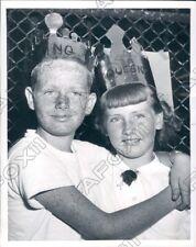 1954 New York City Freckle King & Queen At Jones Children Center Press Photo