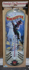 """#1345""""Winchester Horse/Rider"""" Nostalgic Tin Thermometer by Rivers Edge Products"""