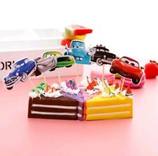 12 x CARS Cupcake Pick Toppers