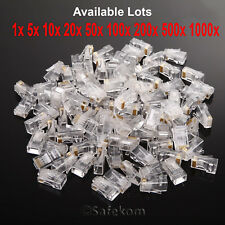 RJ45 Cat5e Cat6 Réseau Ethernet Patch Câble LAN Crimp Plug fin Connecteurs Lot