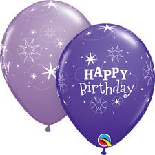 Qualatex Happy Birthday 27.9cm Lattice Elio Qualità Palloncini Colori Assortiti