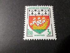 FRANCE 1958, timbre 1185, ARMOIRIES NANTES, neuf**, VF MNH STAMP