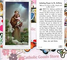 St Anthony with Unfailing Prayer to St Anthony  - Paperstock Holy Card