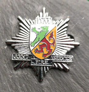 DENBIGHSHIRE AND MONTGOMERYSHIRE JOINT FIRE SERVICE CAP BADGE.