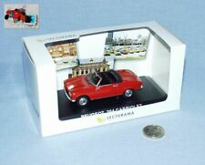 Norev lecturama series 1/43: peugeot 204 cabrio red netherlands 1ier montage rare