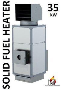 MTM  35 kW  AIR SPACE HEATER WASTE WOOD COAL PELLETS CARDBOARD INDUSTRIAL BURNER
