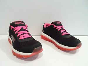 Skechers Go Air Women's Shoes Size 7.5 Black Pink Running Athletic 14230