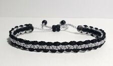 bracelet -corrections officer wristband -adjustable New Thin Grey Line braided