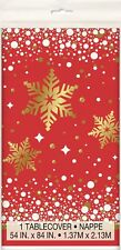 Christmas Xmas Party Decoration Gold Sparkle Plastic Table Cover Tablecloth July