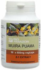 Rio Amazon Muira puama 5:1 extracto 500mg - 90 Cápsulas Vegi
