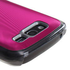 For Samsung Galaxy S Blaze 4G METAL Cosmo HARD Case Snap On Phone Cover Hot Pink