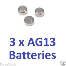 3 x AG13 LR44 Cell Batteries Watch Button Coin L1154 157 303 357 A76 Battery