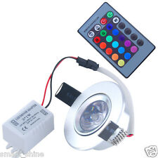 Ceiling Wall Licht  3W LED RGB Recessed Remote Control Spotlight Deckenleuchte