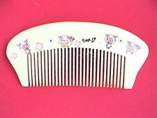 """CARTOON SHEEP"" NATURAL WOOD COMB -CUTE! FOR KIDS!4.35"""