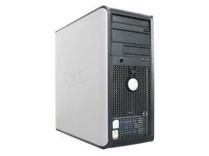 DELL OPTIPLEX GX520 TOWER PC INTEL PENTIUM 4 HT 2.8GHz 4GB 250GB WINDOWS XP PRO