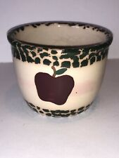 Heritage House Pottery Bowl Apple Green Trim 16 Ounce