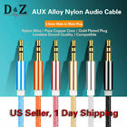 HOT 3.5mm Braided Male to Male Stereo Audio AUX Cable Cord for iPod CAR iPhone 6