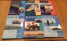 Warship  - Lot de 13 livres  - 1989 à 2003 - Ed. Conway