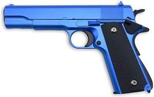 Softair Pistole Voll Metall Rayline RV14 blue, 1:1, 22cm, 450g,  6mm, blau