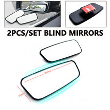 2PCS Convex Angle Auto Car Blind Spot Round StickOn Side View Rearview Mirror