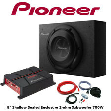 """Pioneer 8"""" Amplifier & Seal Box Subwoofer Deal 700W Package Amp/Sub Deal"""