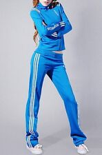 Adidas Blue & White Stripe Tracksuit Jacket and/Or Pants