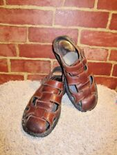 c95acbd153c3 Nunn Bush Men s Brown Pebbled Leather Fisherman Sandals Size 9 M 2337